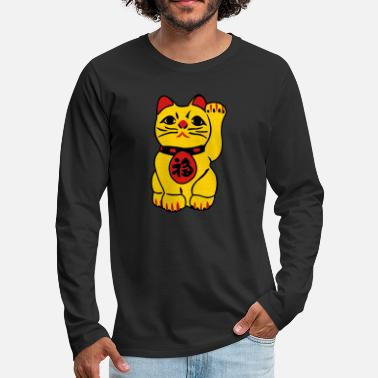 Luck good fortune cat - Men's Premium Longsleeve Shirt