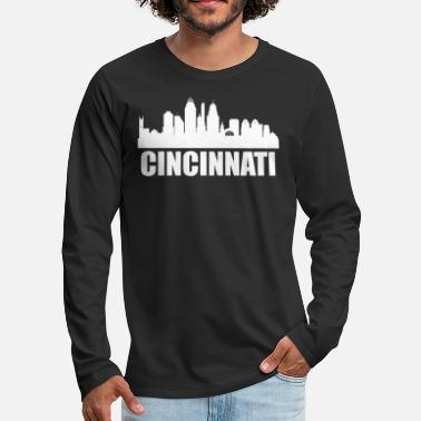 Cincinnati Cincinnati OH Skyline - Men's Premium Long Sleeve T-Shirt