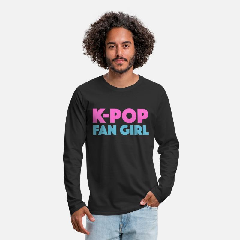 Mens Premium Longsleeve ShirtK Pop Korean Music K Drama BKias Fan Girl Gift