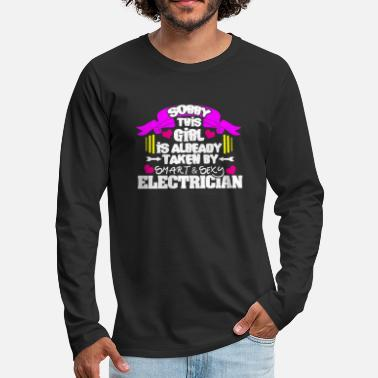 Electricity Electrician Electrical Electricity Electric Job - Men's Premium Longsleeve Shirt