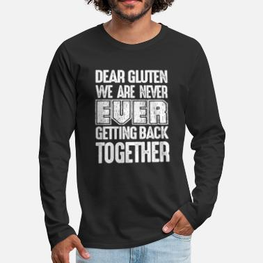 Allergy Gluten Free Food Allegies Celiac Healthy Vegan - Men's Premium Long Sleeve T-Shirt