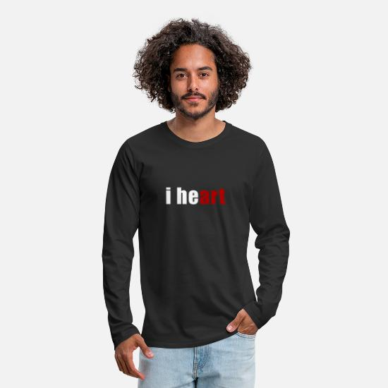 Heart Long-Sleeve Shirts - i heart Heart Art - Men's Premium Longsleeve Shirt black