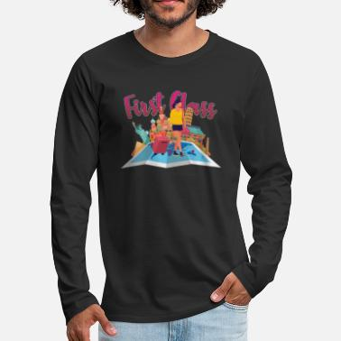 Travelling Travelers Traveling Adventure Vacation Traveling - Men's Premium Longsleeve Shirt