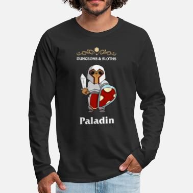 Game Master Sloth Paladin Dungeons and Sloth Fighter RPG - Men's Premium Longsleeve Shirt