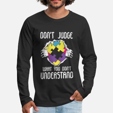 Hear Autism LFA Autist HFA Syndrome AS Asperger - Men's Premium Longsleeve Shirt