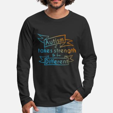 Tolerance Autism Awareness Day Asperger's Syndrome Parents - Men's Premium Longsleeve Shirt