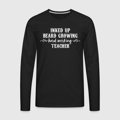 ink beard teacher - Men's Premium Long Sleeve T-Shirt
