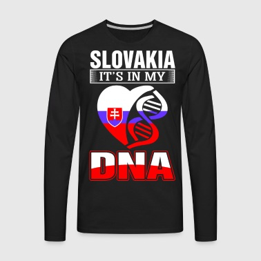 Slovakia DNA Tshirt - Men's Premium Long Sleeve T-Shirt