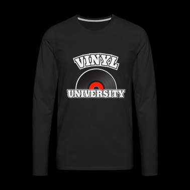 vinyl university - Men's Premium Long Sleeve T-Shirt