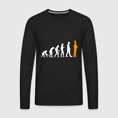 cook evolution tshirt funny gift present for cooks - Men's Premium Long Sleeve T-Shirt