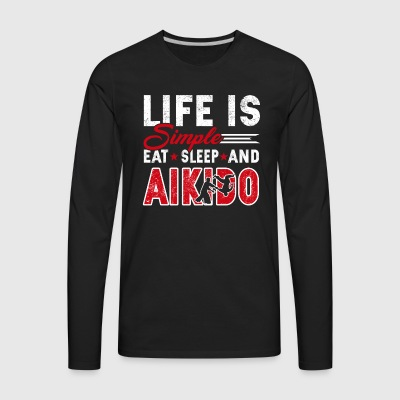 Aikido Tee Shirt - Men's Premium Long Sleeve T-Shirt