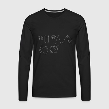 Forms Geometry Present Art Design White - Men's Premium Long Sleeve T-Shirt