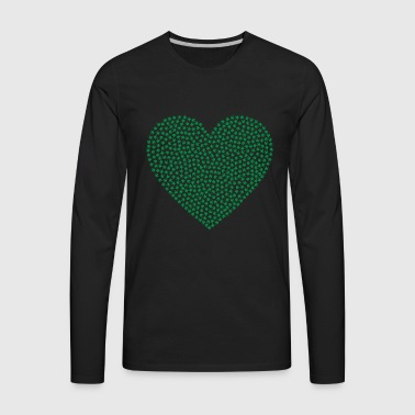 marijuana heart - Men's Premium Long Sleeve T-Shirt