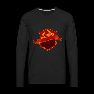 GRILL BADGE - Men's Premium Long Sleeve T-Shirt