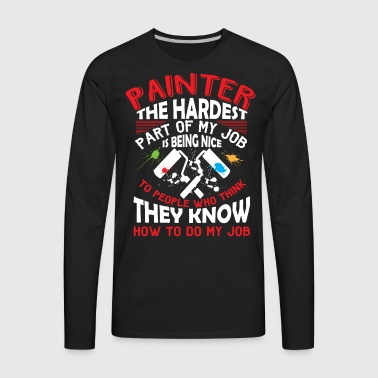Painter T Shirt - Men's Premium Long Sleeve T-Shirt