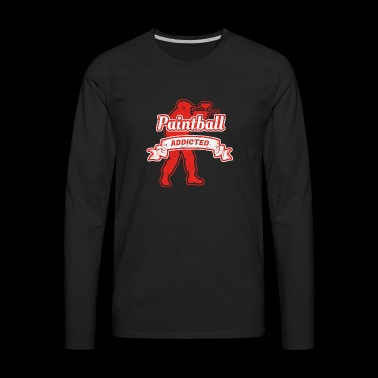 Abhaengig droge hobby geschenk paintball softair g - Men's Premium Long Sleeve T-Shirt