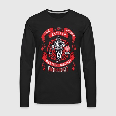 Firefighter Maltese Cross First Responders Retired - Men's Premium Long Sleeve T-Shirt