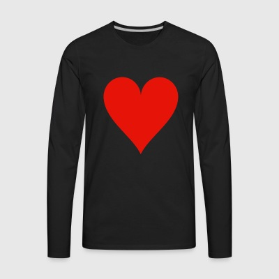 Heart Card - Men's Premium Long Sleeve T-Shirt