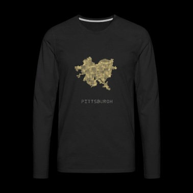 pittsburgh yellow - Men's Premium Long Sleeve T-Shirt