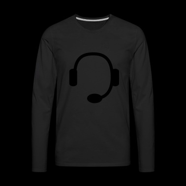 headset - Men's Premium Long Sleeve T-Shirt