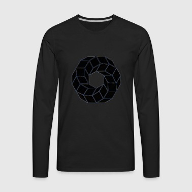 Circle Geometry Present Art Design Black - Men's Premium Long Sleeve T-Shirt