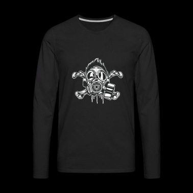 Cross Bones Gasmask - Men's Premium Long Sleeve T-Shirt