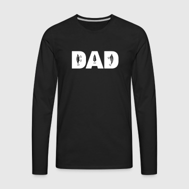 Bass Fishing Dad - Men's Premium Long Sleeve T-Shirt