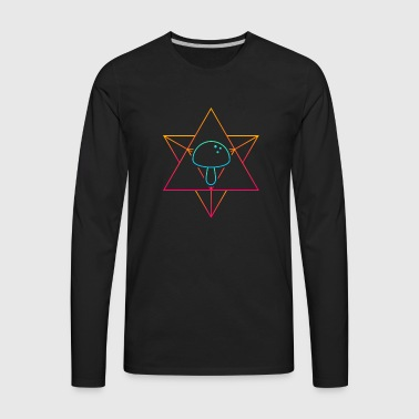 Psychedelic Geometry Mycology Mushroom - Men's Premium Long Sleeve T-Shirt