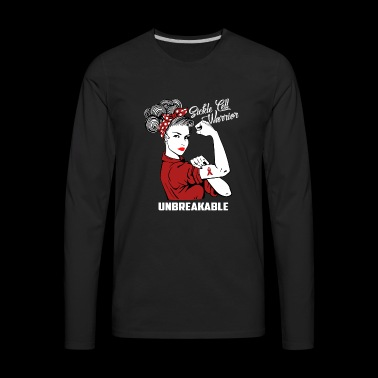 Sickle Cell Warrior Unbreakable: Sickle Cell Aware - Men's Premium Long Sleeve T-Shirt