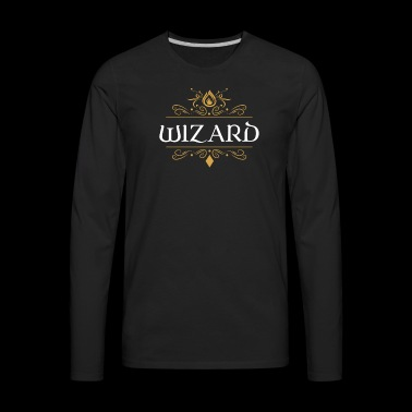 Wizard Dragons in Dungeons Tabletop RPG - Men's Premium Long Sleeve T-Shirt