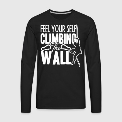 Mountain Climbing Shirts - Men's Premium Long Sleeve T-Shirt
