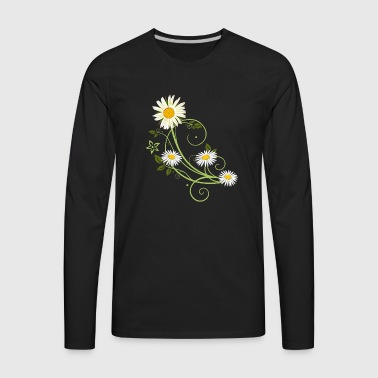 Tendril with Marguerite and daisies - Men's Premium Long Sleeve T-Shirt