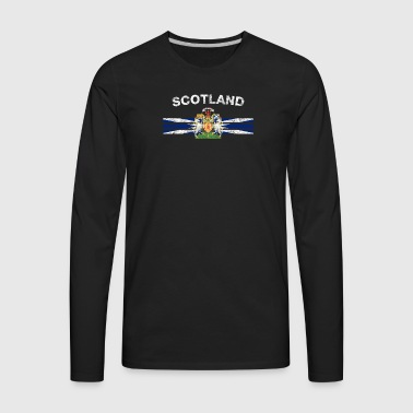 Scottish Flag Shirt - Scottish Emblem & Scotland F - Men's Premium Long Sleeve T-Shirt