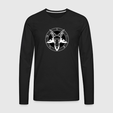 Red Eyed Baphomet - Men's Premium Long Sleeve T-Shirt