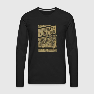 HIGHWAY REBELLION - Men's Premium Long Sleeve T-Shirt
