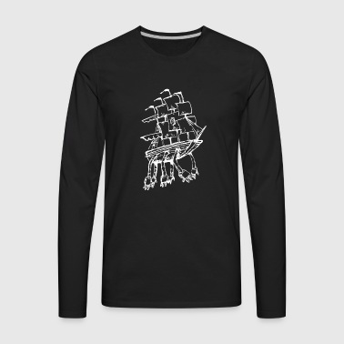 Robot Ship - Men's Premium Long Sleeve T-Shirt
