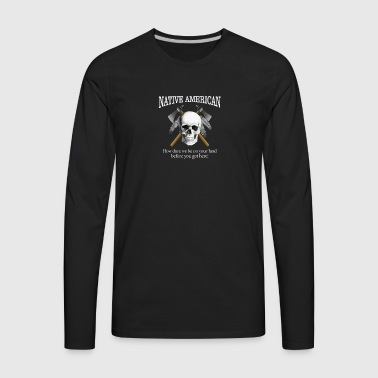 Native American (skull) - Men's Premium Long Sleeve T-Shirt