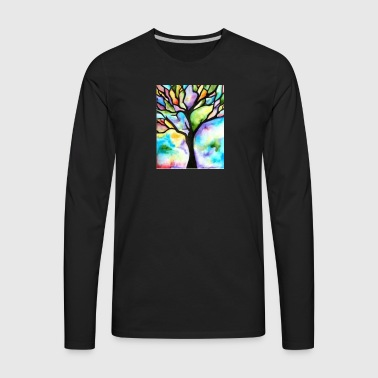 Tree patterns - Men's Premium Long Sleeve T-Shirt