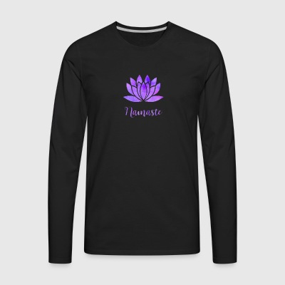 Namaste Lotus Flower - Men's Premium Long Sleeve T-Shirt