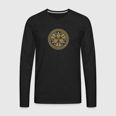 Celtic 3 Owls - Men's Premium Long Sleeve T-Shirt