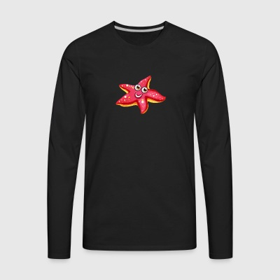 Starfish ocean wildlife cool art smile - Men's Premium Long Sleeve T-Shirt