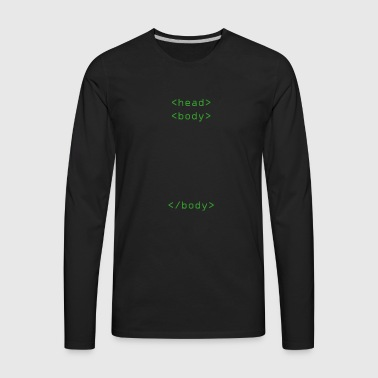 Head Body Html Tags Gift - Men's Premium Long Sleeve T-Shirt