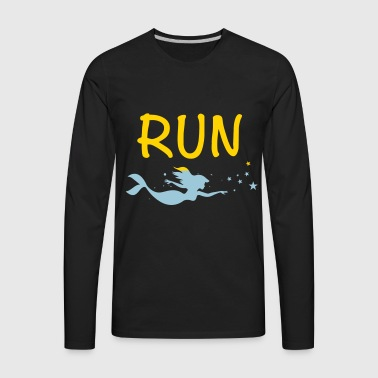 swimming - Men's Premium Long Sleeve T-Shirt
