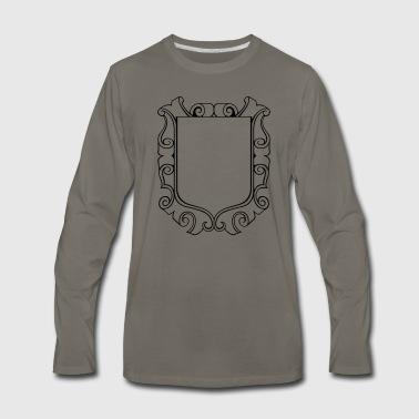 decorated shield - Men's Premium Long Sleeve T-Shirt