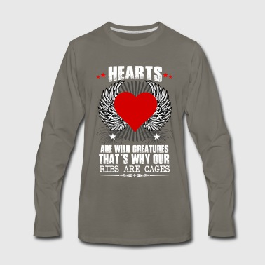 Hearts Ribs Are Cages - Men's Premium Long Sleeve T-Shirt