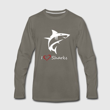 Love Shark - Men's Premium Long Sleeve T-Shirt