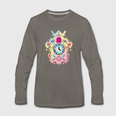 decorative colorful cuckoo clock - Men's Premium Long Sleeve T-Shirt