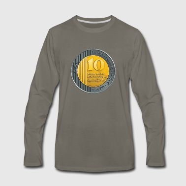 10 new israel shekels - Men's Premium Long Sleeve T-Shirt