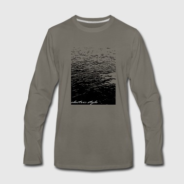 Electricity water, electrical art - Men's Premium Long Sleeve T-Shirt