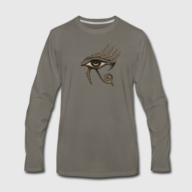 Eye of Horus Feathers Egyptian Lucky Charm  - Men's Premium Long Sleeve T-Shirt